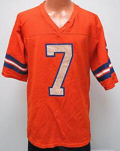 vtg JOHN ELWAY #7 Denver Broncos 80s Home Jersey M MED Rawlings Orange NFL CO