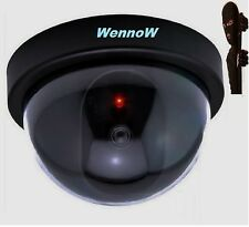 Dummy Fake Surveillance Security Dome Imitation In/Outdoor Camera w/Flashing LED