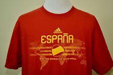 Spain Soccer t-shirt red XL 2010 World Cup South Africa Espana Adidas