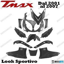 KIT 12 PEZZI CARENE LEXUS NERO NEUTRO YAMAHA TMAX T-MAX 500 '01/'07 FAIRING