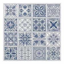 Tic Tac Tiles® - Premium 3D Peel & Stick Wall Tile in Portuguese Blue (5 sheets)