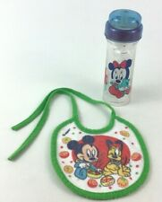 Baby Bottle Baby Feeding Minnie Mouse Feeder and Bib Disney Vintage Toddler Eat