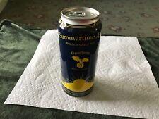 Craft beer Summertime Ale 16 oz bottom opened empty beer can.