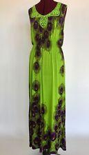 """ACE Fashion Maxi Dress Sleeveless Summer Lime Peacock Mint Women's XXXL Bust 45"""""""