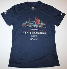 NEW 2015 San Francisco Marathon WOMEN'S Running Jogging NAVY Shirt BROOKS - XL