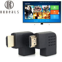 New 90Degree left/right Angle Male to Female Adapter Cable Connector HDMI HDTV