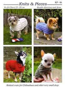 KP06 Sweaters for Chihuahuas and other very small dogs dog coat KNITTING PATTERN