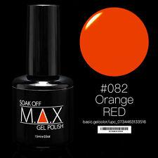 MAX 15ml Soak Off Gel Polish Nail Art UV LED Color #082 - Orange Red
