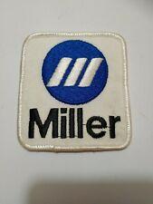 Old Miller Welder Welding Equipment Generator Advertising Cloth Uniform Patch