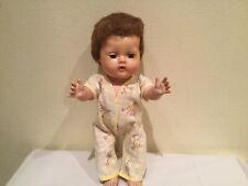 Vtg American Character Tiny Tears All Vinyl Drink & Wet Doll, Restore