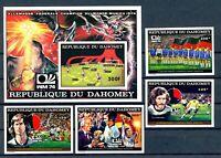 Dahomey MiNr. 605-08 B + Block 49 B postfrisch MNH Fußball WM 1974 (Fuß655