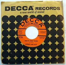 JOHNNY & JACK 45 Smiles & Tears / Love Problems NEAR MINT Country PROMO w1239