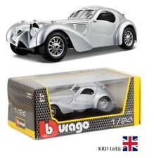 BUGATTI ATLANTIC 1:24 Scale Diecast Model Car Burago Team Collector Toy Gift Box