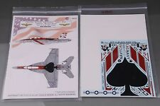 GALAXY Model G48005 1/48 U S Navy F/A-18F VFA-41 Black Aces 70 Years Decal