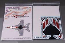 GALAXY Model G48005 1/48 U S Navy F/A-18F VFA-41 Black Aces 70 Years Decal
