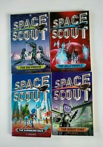 Lot of 4 Space Scout books by H. Badger.