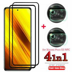 For Xiaomi POCO X3 NFC 9H Tempered Glass Screen Protector+Camera Lens Film Set