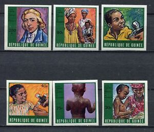 s12293) GUINEA GUINEE 1970 MNH** Smallpox & Measles 6v IMPERFORATED