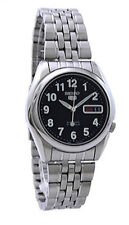 Seiko 5 Automatic SNK381 SNK381K1 Men See Through Day Date Stainless Steel Watch