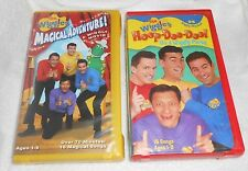 THE WIGGLES  Ages 1-8 Lot of 2 VHS Tapes    VERY GOOD