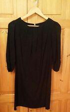 F & F Black Three Quarter Sleeve Tunic Dress - Size 8