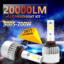 9005 H10 HB3 9140 200W 20000LM LED Headlight Kit Bulbs High Beam 6500K White Hot