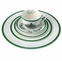 Spode Christmas Tree 5 Piece Place Setting Porcelain Plates Cup Saucer Set