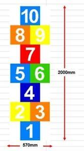 DIY PREFORMED ANTISLIP THERMOPLASTIC PLAYGROUND AND SCHOOL MARKING  HOPSCOTCH 2m