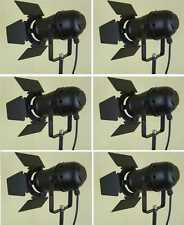 6 x PAR-30 Spot Schwarz mit Barn-Door Flügel-Tor-Blende E27 Fassung Scheinwerfer