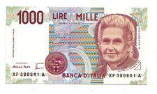 Italia 1000 lire 1999  replacement FDS UNC pick 114c numero 380641  rif 2371