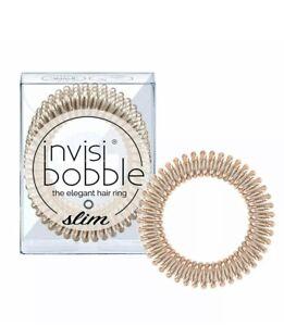 Invisibobble Slim Bronze Me Pretty- 3x Hair Rings-New