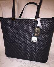 NWT Lauren Ralph Lauren Clifton Reese TOTE Bag Black MSRP$198