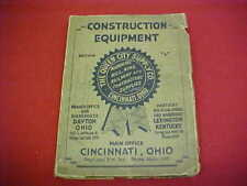 1928 CONSTRUCTION EQUIPMENT HIT MISS ENGINE CRANE LOCOMOTIVE TRUCK TRACTOR BOOK