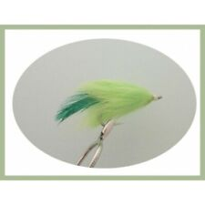 Pike Flies, 4 Chartreuse Fatso, Mixed 1/0 & 2/0, Pike Fly Fishing, Large Trout