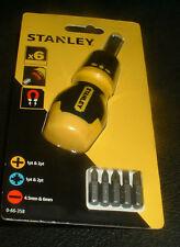 STANLEY 0-66-358 6 PIECE MULTI STUBBY SCREWDRIVER   BRAND NEW