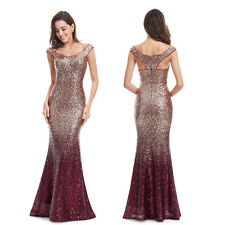 Ever-Pretty Women Long Evening Prom Dress Sexy Sequin Mermaid Dress Party Gown
