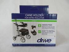 Drive Medical Cane Holder for Nitro Rollator Model 892  ~NEW~  Black ~Free Ship~