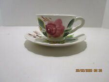 """vtg Blue Ridge Cup&Saucer """"Tiger Lily"""" Southern Potteries"""