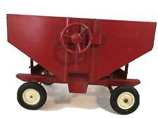 Vintage Ertle Metal Gravity Feed Grain Wagon Farm Equipment Toy