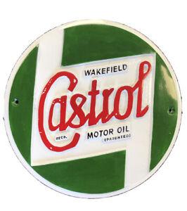 Castrol Oil Plaque Vintage Style Cast Aluminium Sign