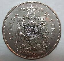 1988 CANADA 50¢ HALF DOLLAR COIN BRILLIANT UNCIRCULATED