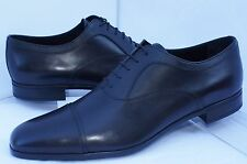 New Prada Men's Black Shoes Oxfords Calzature Uomo Size 11 Saffiano Dress