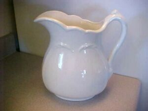 VINTAGE LARGE SIZE WHITE IRONSTONE SERVING PITCHER