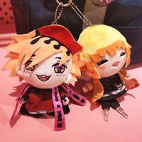 Demon Slayer Kimetsu no Yaiba Agatsuma Zenitsu Douma Plush Doll Keychain Toys
