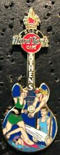 Hard Rock Cafe *ATHENS, GREECE* OLYMPIC GAMES SPORTSMEN ON GUITAR PIN TORCH HEAD