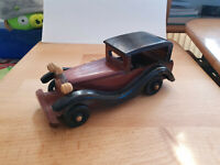 Vintage look Wooden Car HandCrafted Wood Toy Collectible Home/Office Decoration