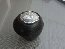 Genuine Jaguar X-Type XJR 5 or 6 Speed Black Leather Gear Stick Knob Handle