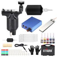 Complete Beginner Tattoo Kit  Rotary Machine Kit Power Supply Ink Needle Grips