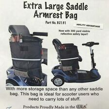 Diestco Extra Large Saddle Armrest Bag for Scooters & Wheelchairs #B2131 - NEW !