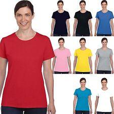 Maglietta Cotone Donna Gildan Heavy T-Shirt 185 Grammi Sagomata Tinta Unita